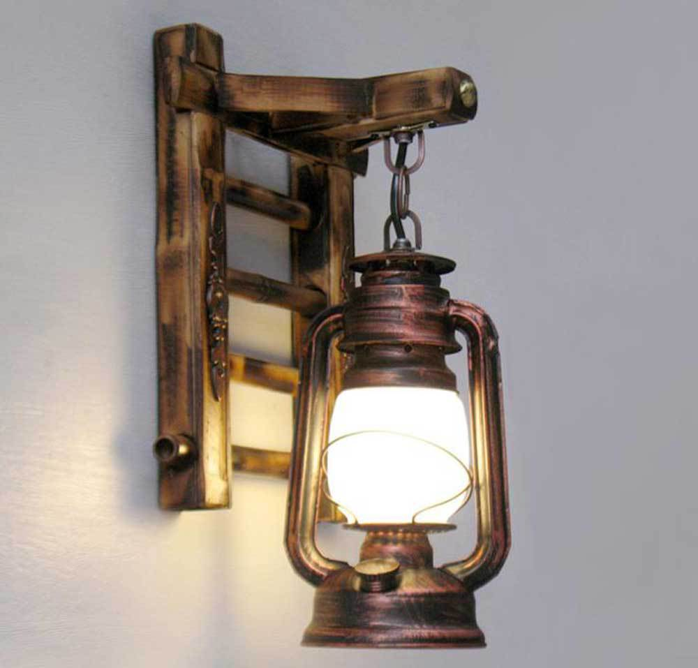 Chinese Style Novelty Bamboo Ladder Wall lamps Creative barn lantern Bronze Wall lightings with E27 Base Type GY-DD-7190<br><br>Aliexpress