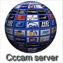 Mejor CCcam europa Cline Server 1 year decodificador de satélite españa reino unido alemania francia marruecos argelia envío 3 in1 Cable RCA envío de DHL(China (Mainland))
