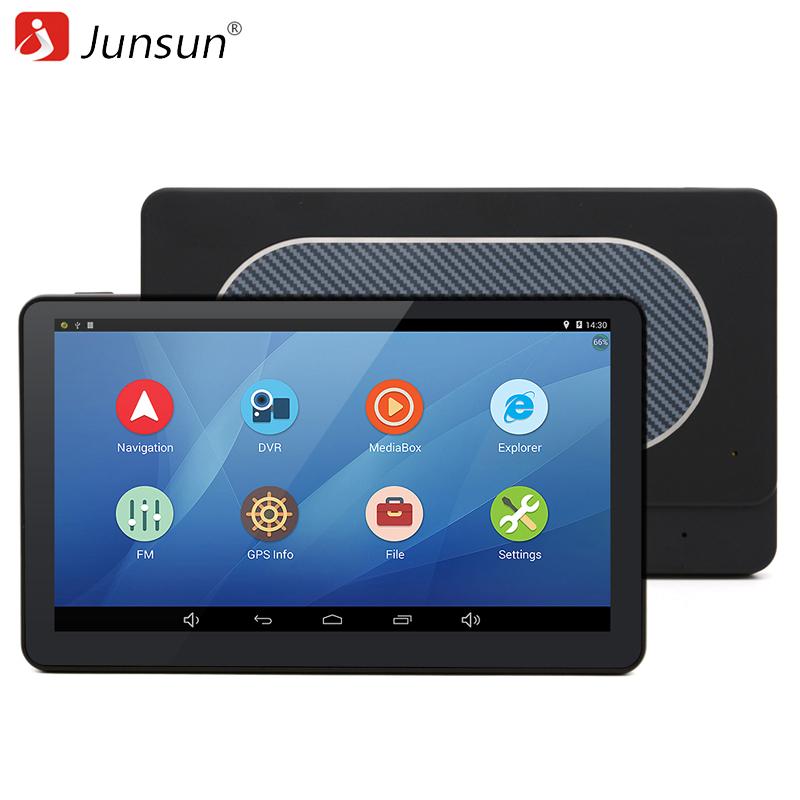 Junsun 7 inch Car GPS Navigation Android 4.4 WIFI/FM Quad-core Navitel/Europe Free Map Truck vehicle gps Automotive Navigator(China (Mainland))