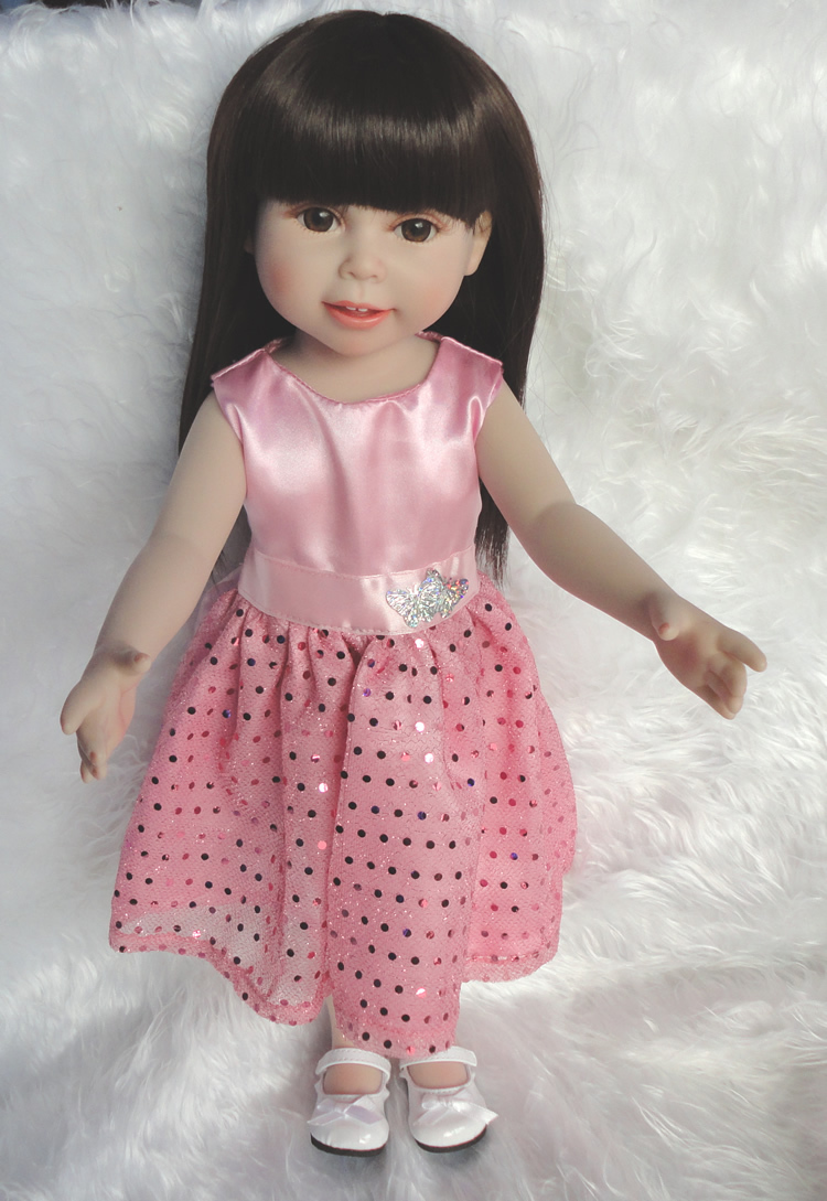 Hot selling american 18 inch Baby Doll Girls Realistic Full Vinyl Princess Girl Dolls Great Kids Gift Idea
