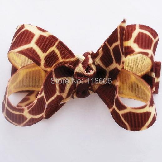 100pcs/lot Giraffe Bitty Hair Bow Baby Hair Bows Free Shipping(China (Mainland))