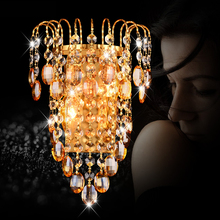 Buy New Modern K9 Crystal LED Wall Lamp Sconce Bathroom Night Lighting Aisle Mirror Light E14 LED Wall Lights Stairs Decoration for $47.64 in AliExpress store