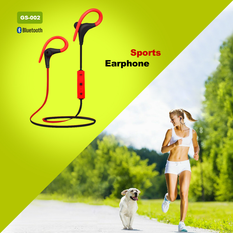 Fashion Bluetooth 4.1 Stereo Sports Earphone Headset Running Wireless Headphone Mobile Phone Cables Earbuds Auriculares GS002(China (Mainland))