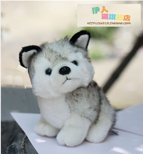10 pieces cute small husky dog toy lovely gray dog doll gift about 20cm<br><br>Aliexpress