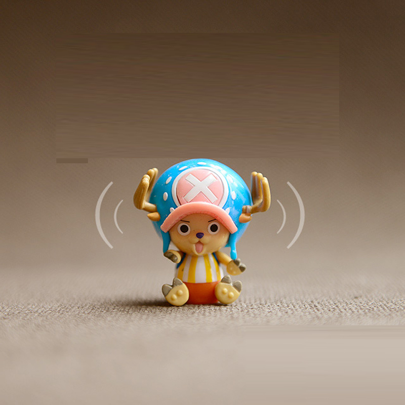 Hot ! NEW 5cm One piece Choppe action figure toys Christmas doll toy the head can be waved(China (Mainland))