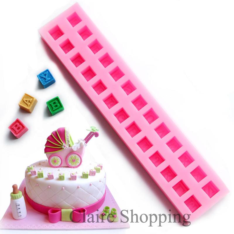 Baby alphabet block silicone cake mold fondant mold cake ...