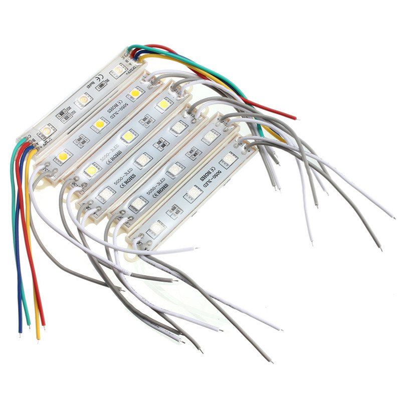 Lowest Price High Power Multicolors Waterproof IP68 5050 SMD 3 LED Module LED Strip String Light DC12V(China (Mainland))