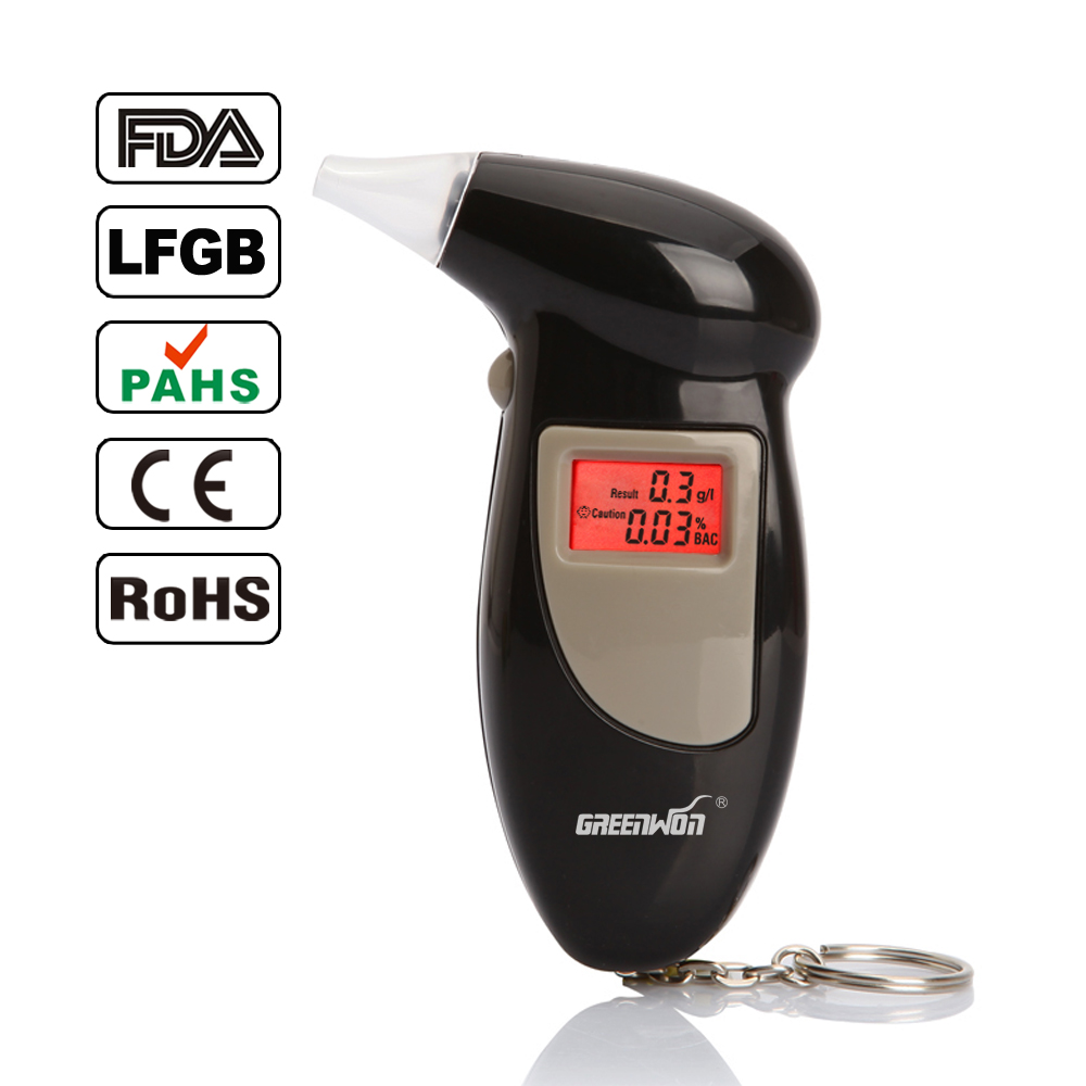 Free Shipping 5pcs/lot Key Chain Alcohol Tester Digital Breathalyzer, Alcohol Breath Analyze Tester (0.19% BAC Max) , Wholesale(China (Mainland))