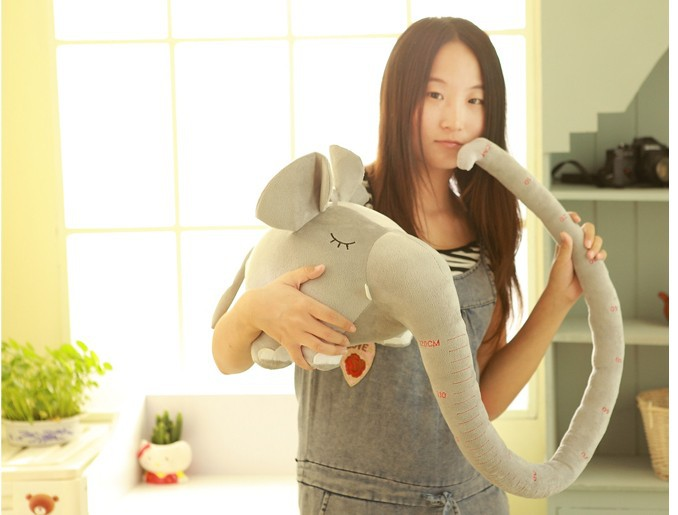 lovely plush elephant long nose elephant about 150cm birthday gift colour gray<br><br>Aliexpress