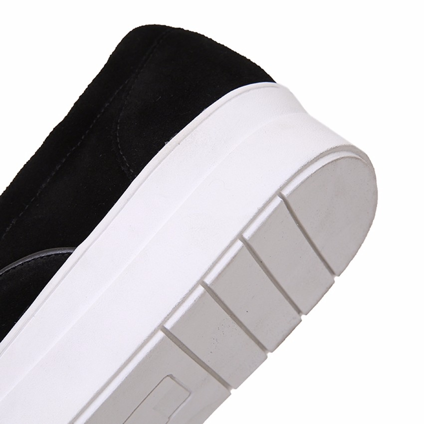 2017 New Arrival Cow Suede Black Gray Fashion Casual Spring Autumn Lady Girls Females Womens Flats Loafers Shoes D1010