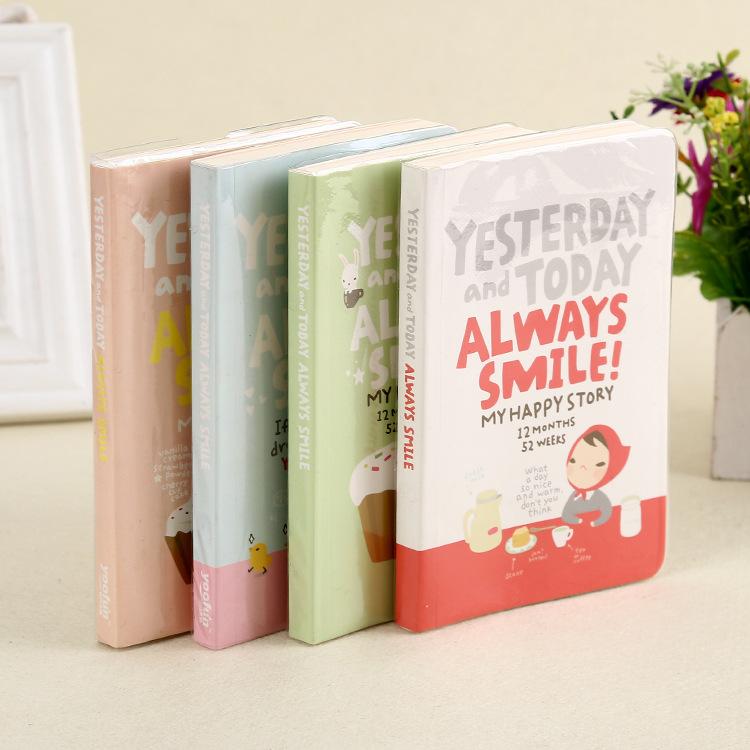 4 Colors Red Hat Girl Notebook Personal Diary Journal Book Cute Notebook Planner Agenda Kawaii Notebook Korean School Supplies(China (Mainland))