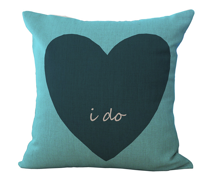 cushions for lover English Letter Cotton Linen Throw Pillow Home Bedding Decorative Cushion For Valentine s