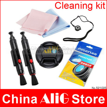 5 In 1 Camera Cleaning Kit Camera Lens Cleaning Pen Cloth Paper Lens Cap 52mm