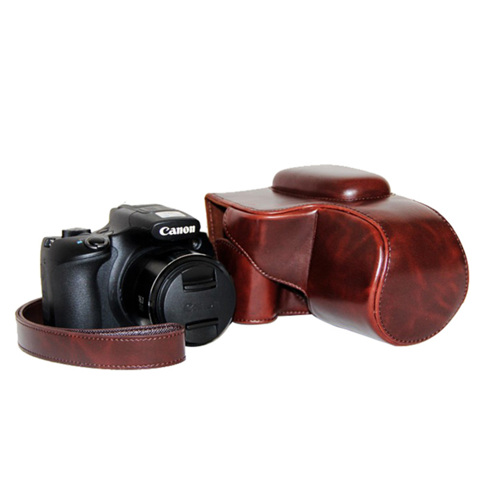 Free shipping Good quality New Leather Camera Case Bag Cover for Canon SX60 with Strap(China (Mainland))