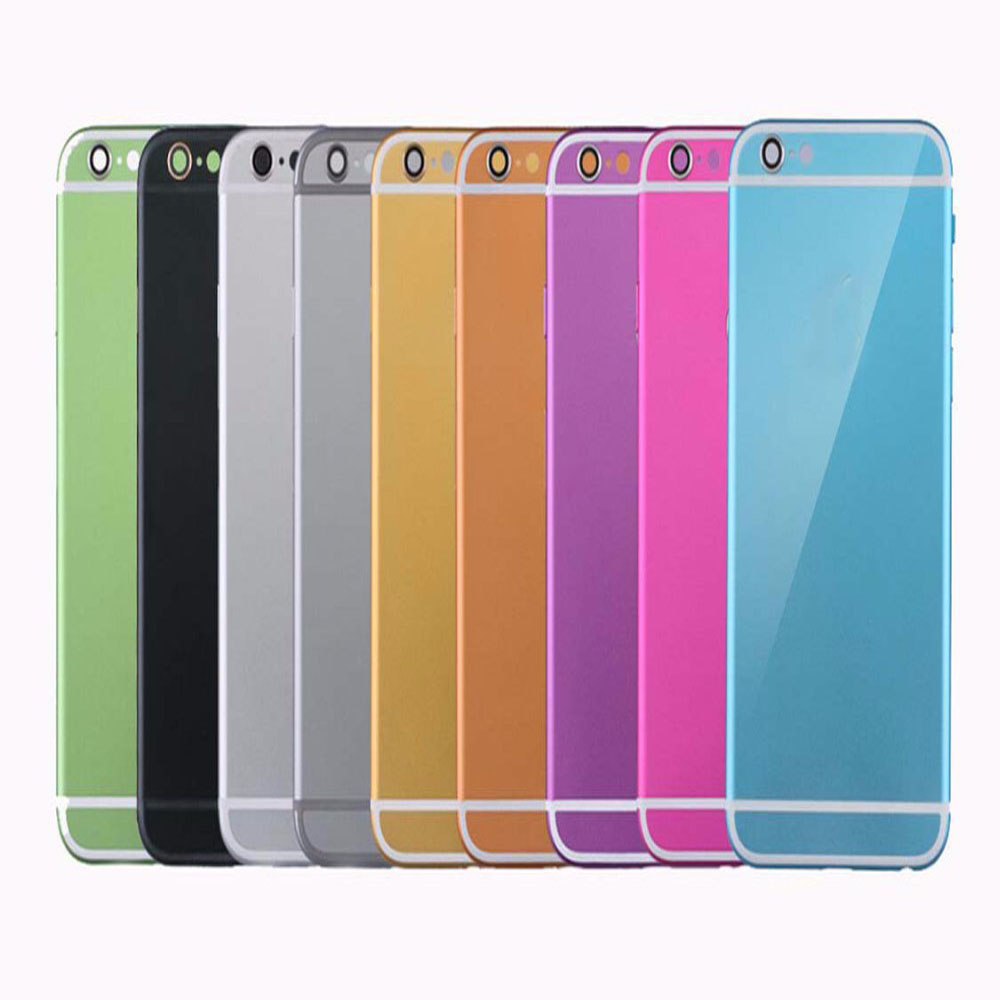"""High quality OEM For iPhone 6 4.7"""" Replacement muticolor Back Battery Door Cover Housing with Middle metal Frame+Tracking Number(China (Mainland))"""