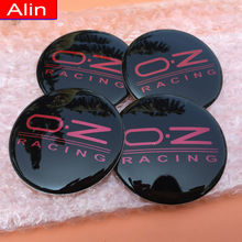 Buy 4pcs 65mm Black Red OZ Racing logo Car Wheel Center Hub Cap sticker rim Dust-proof Badge emblem covers decal styling for $5.90 in AliExpress store