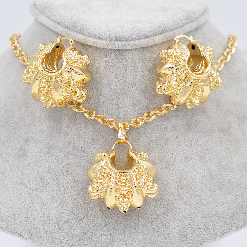 Big Hoop Earrings Pendant Necklace Women's Jewelry Sets18K Gold Plated Silver Plated Copper Skeleton Fashion Party Wedding Daily(China (Mainland))
