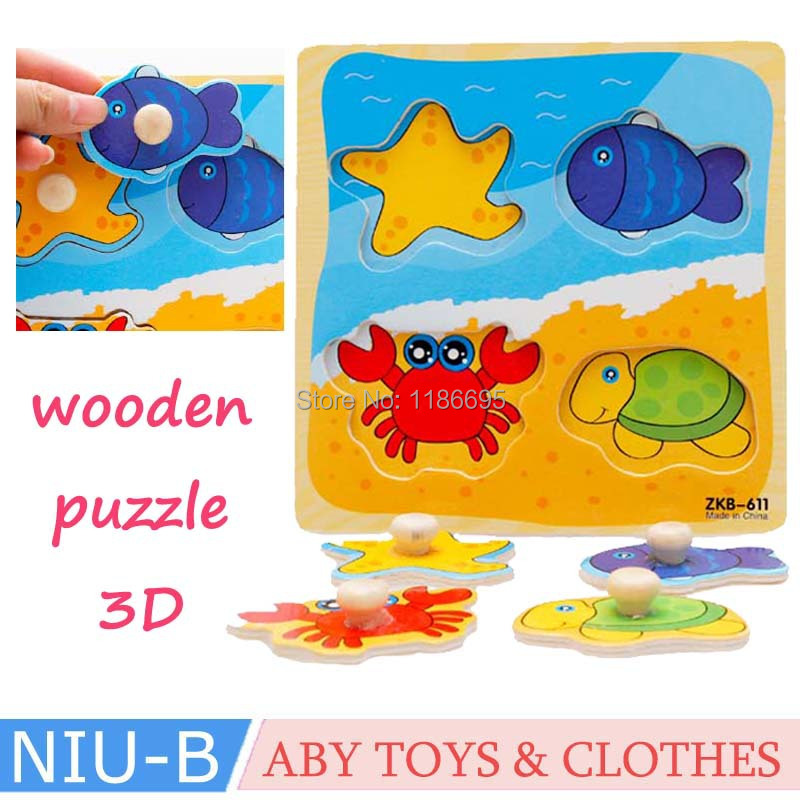2015 Free Shipping Cartoon/Animal/Construction/Fruit Jigsaw Puzzle Board 3D wooden puzzle toy panels Learning Toys(China (Mainland))