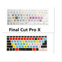Shortcut keys Keyboard Screen Cover A1278 Final Cut Pro X For Macbook A1278 Apple Find Cut Pro X KC_A1278_TY_FindCutProX