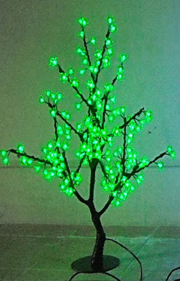 70pcs LEDs 0.5m Height 110/220VAC LED Cherry Tree Lights for Christmas--Free Shipping! Green or White Optionally!(China (Mainland))