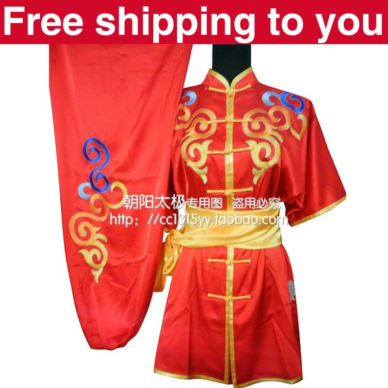 Free shipping Customize Chinese wushu uniform clothing Kungfu suit Martial arts/Cloud embroidery/for men/women/ child/boy/girl