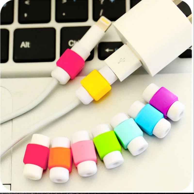 New For iPhone 7 6s 5s Plus For Xiaomi mi5 For Samsung Galaxy S6 Edge Square USB Protective Sleeve Charging Cable Earphone Line(China (Mainland))