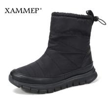 Kadın Kış Ayakkabı Marka Kadın Ayakkabı Orta Buzağı Çizmeler Peluş Ve Yün Yüksek Kaliteli Kadın Kışlık Botlar Artı Büyük boyutu Xammep(China)