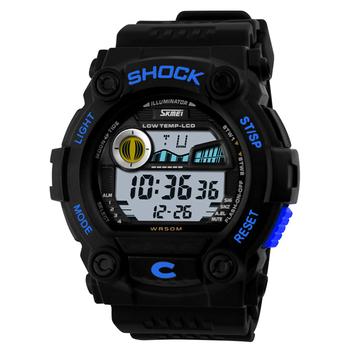 SKMEI Shockproof  Multifunction Digital Men Sport Watch Brand 50 Meter Waterproof Wristwatch