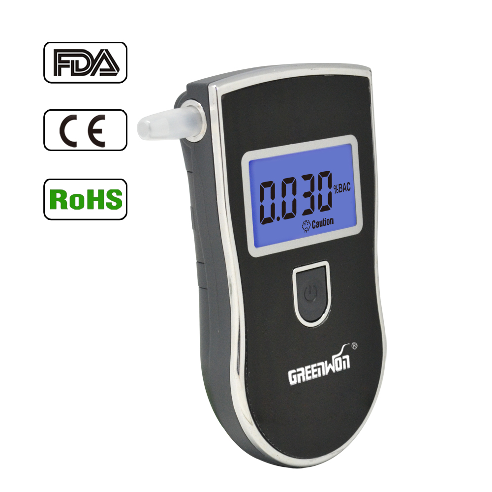 Portable Breath Alcohol Analyzer, Digital Breathalyzer Tester,LCD Display in Two Units: %BAC & g/L alcohol breath testerAT-818(China (Mainland))