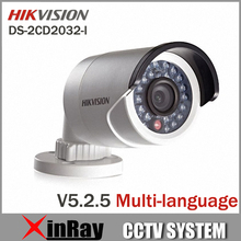 Newest Hikvision Multi-language Version V5.2.5 DS-2CD2032-I 3MP Bullet Camera Full HD 1080P POE Network Outdoor  IP CCTV Camera(China (Mainland))