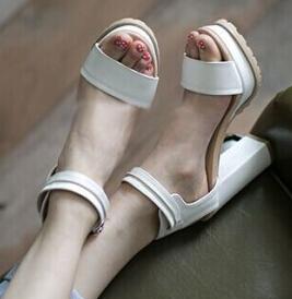 ENMAYER New Roman Style Ankle Straps High Heels Women Sandals Designer Open Toe Platform Summer Shoes women High-heeled Sandals<br><br>Aliexpress