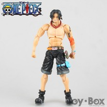 Buy Anime One Piece New World Portgas D Ace 18cm Cartoon Toy PVC Action Figure Model Gift for $20.00 in AliExpress store