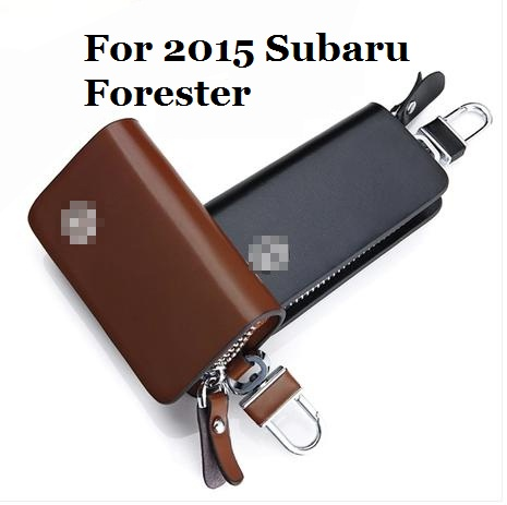 Car refiting Car key Leather protective cover case bag wallet smart key case protector case For 2015 Subaru Forester(China (Mainland))