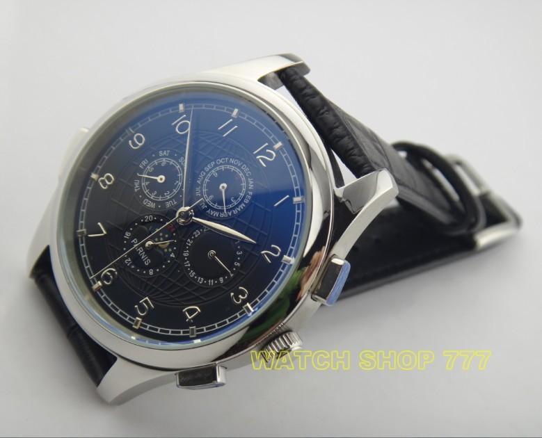 Бесплатная Доставка 2016 новая мода 44 мм ПАРНИС Азии Автоматические механические движения мужские часы Роскошные часы оптовая x0012