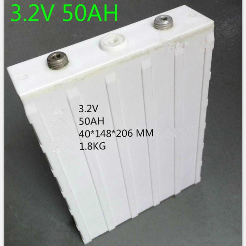 3.2v lifepo4 50ah lithium 3.2v rechargeable battery 100A diy solar battery lifepo 12v battery pack 50ah energy storage cell(China (Mainland))