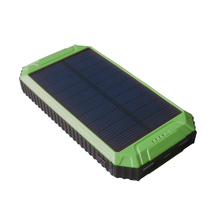 Solar USB Battery Charger PowerGreen 10000mAh Waterproof Solar Power Bank Solar Cell for Iphone for HTC for LG