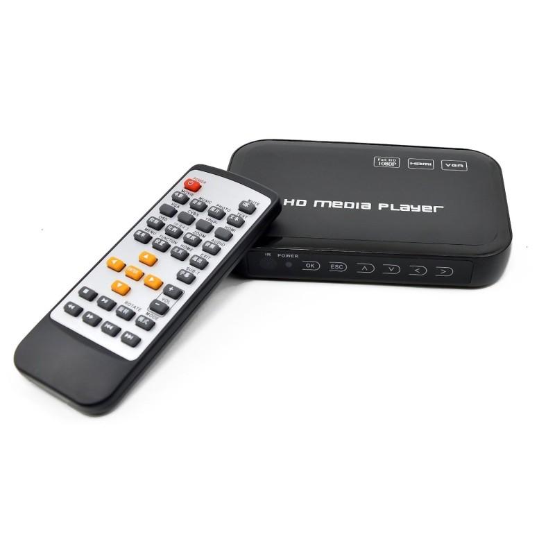 USB Full HD 1080P HDD Media Player HDMI VGA MKV H.264 SD with IR Remote contorl - Sample Free shipping!(Hong Kong)