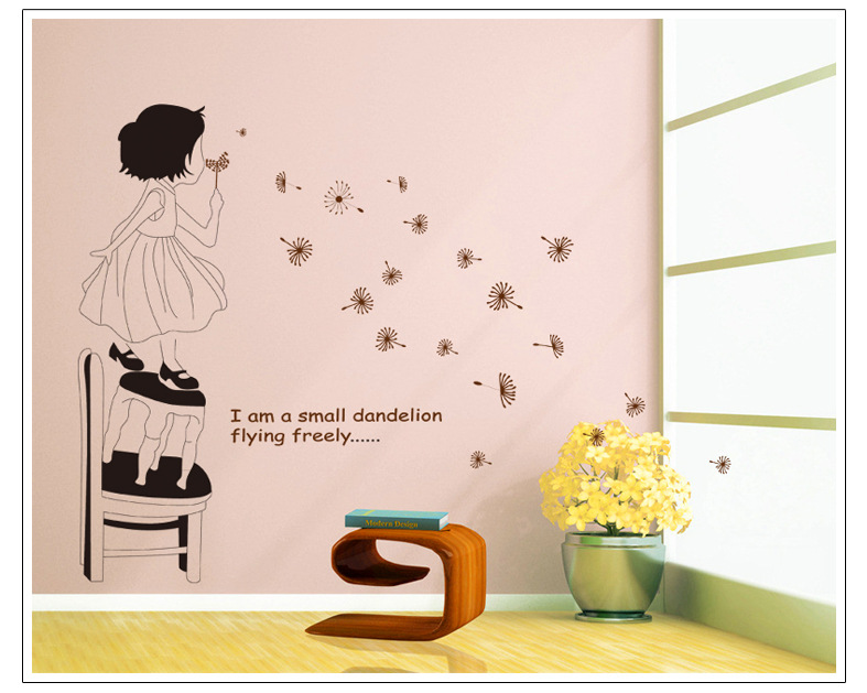 Flower princess love home decor wall sticker diy kitchen