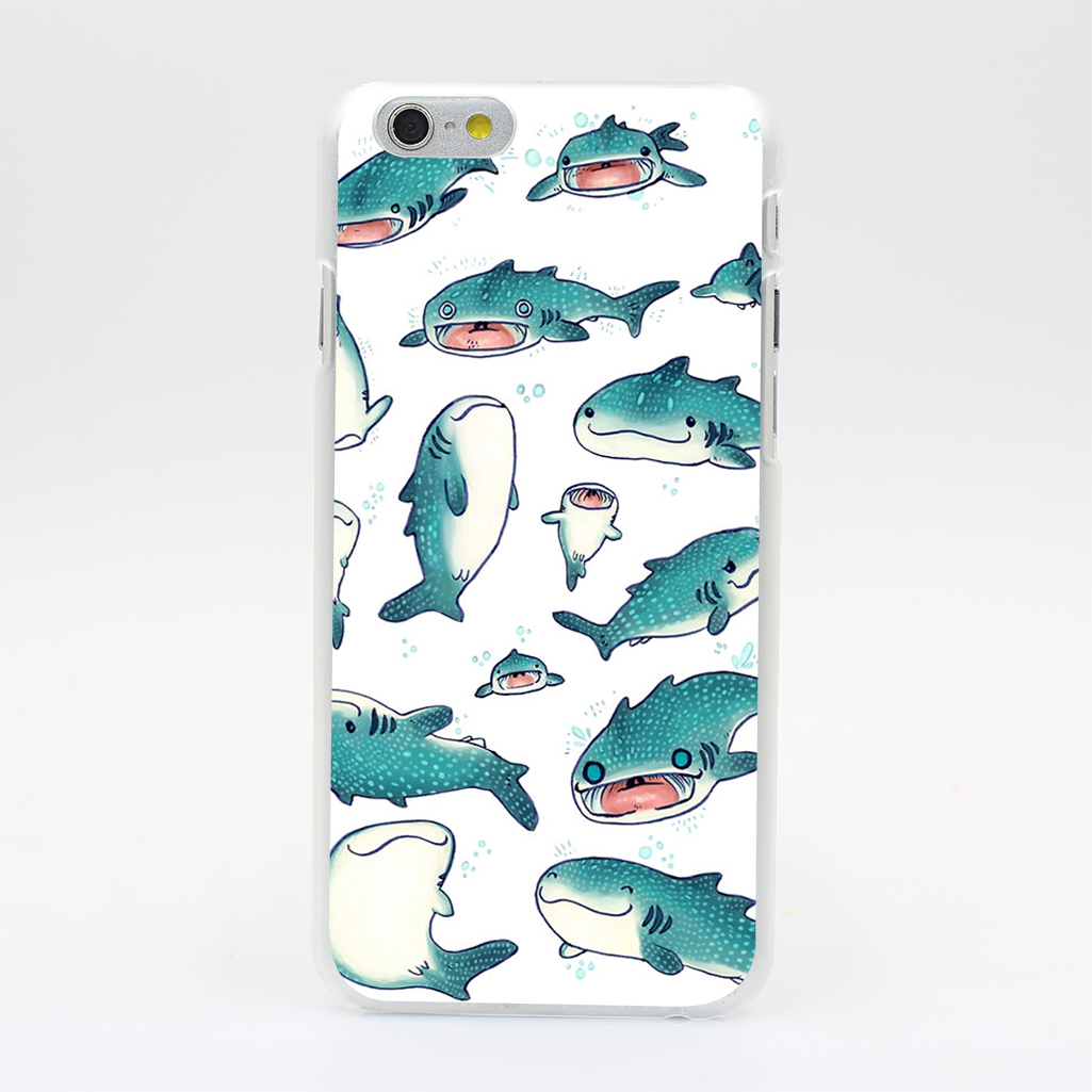 2443T Whale Sharks Hard Case Cover for iPhone 4 4s 5 5s SE 5C 6 6s Plus Skin Back(China (Mainland))