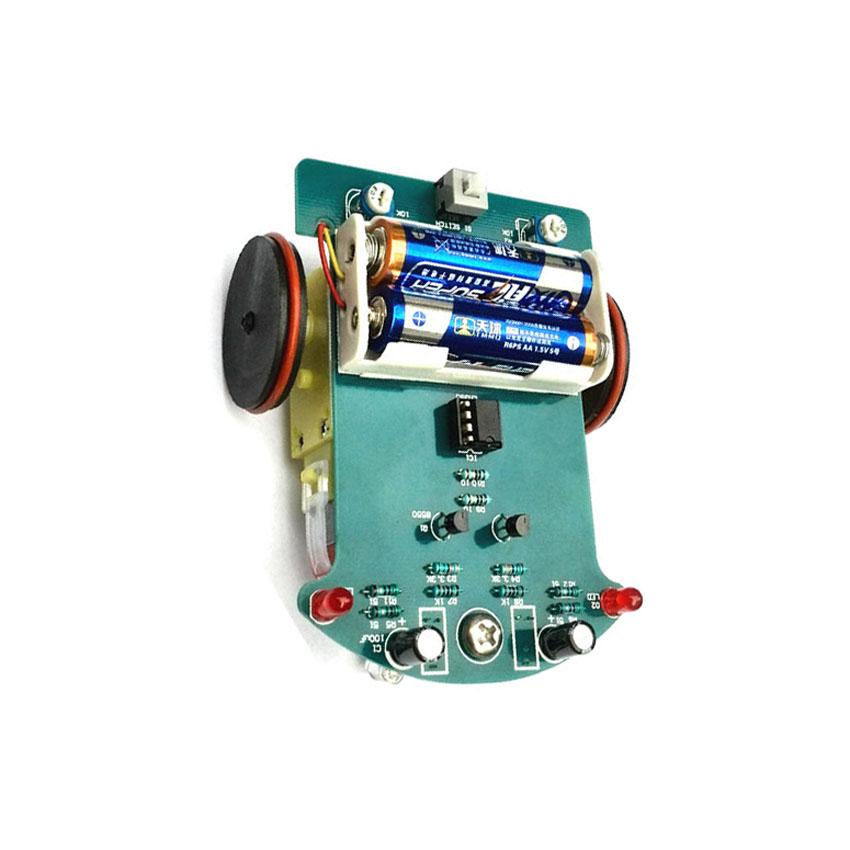 Intelligent tracking car kit D2-1 line patrol small car kit electronic production DIY kit(China (Mainland))