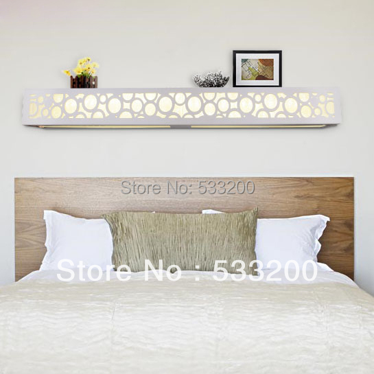 LED Wooden Wall Lamp 1.2m Bed Of Head Wall Lamp Modern Bedroom Wood LED Wall Light Carved Wall ...