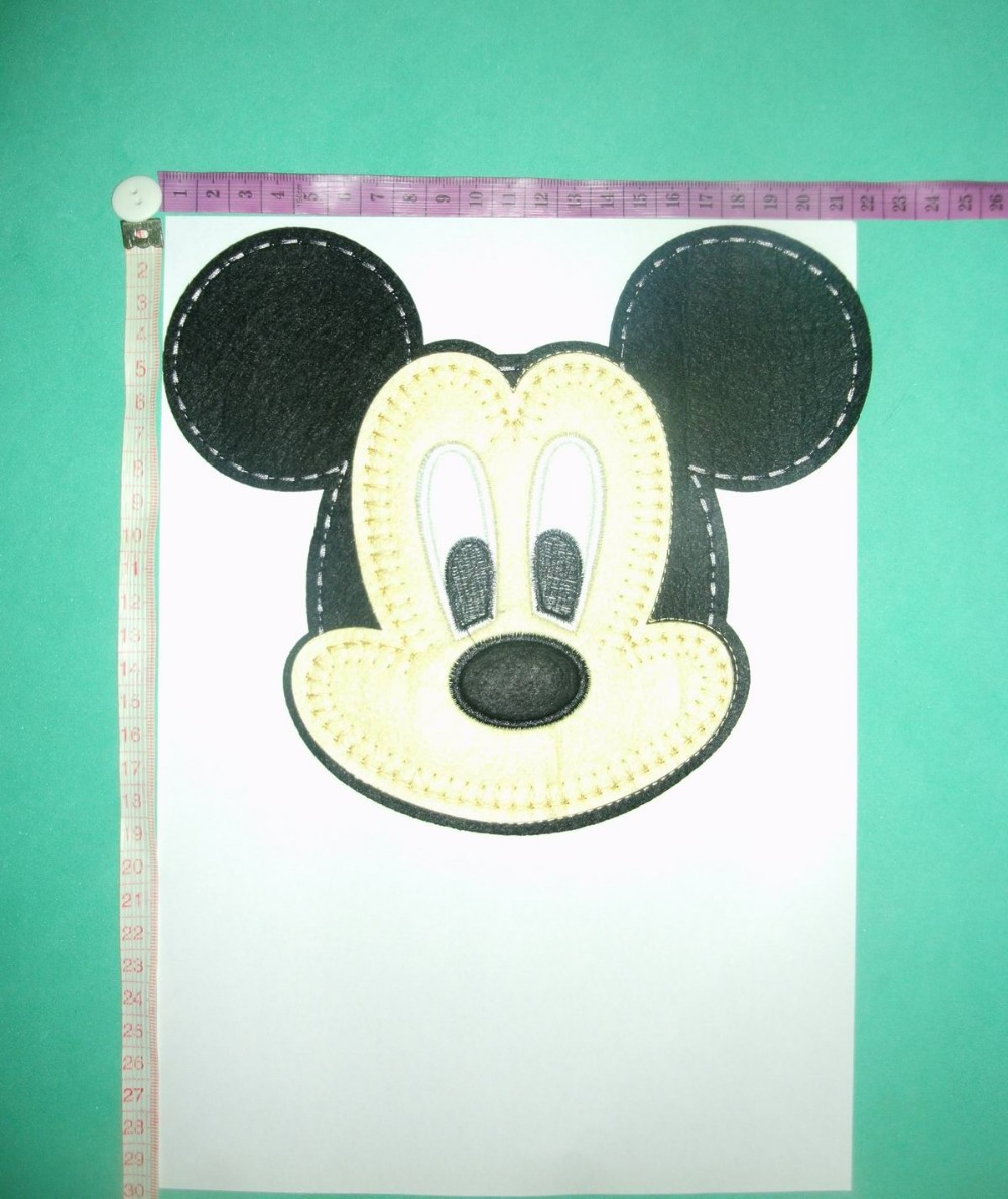 FREE SHIPPING,Large sized cartoon, embroidery fabric cloth paste USA Mouse(China (Mainland))