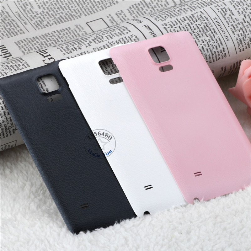 10 PCS White/Black/Gold/Pink Battery Door Back Cover Housing Case with Logo For Samsung Galaxy Note4 IV N9100