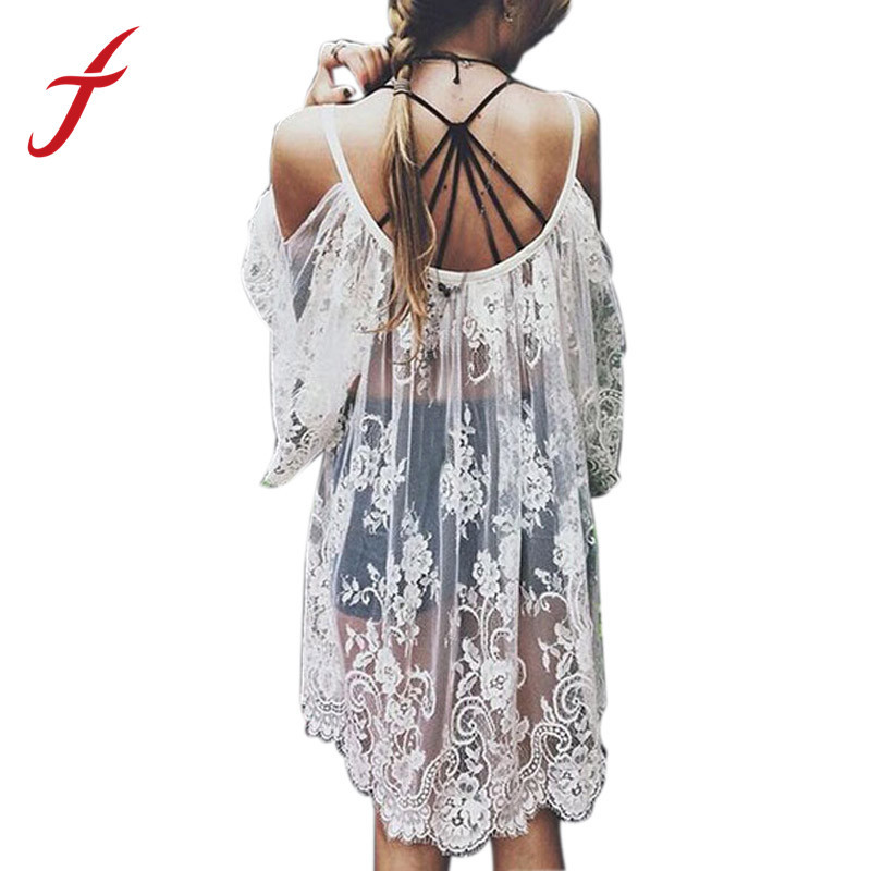Feitong Remarkable Hippie Boho People Embroidered Floral Bohemian Lace Crochet Beach Wear Mini White\Black Dress Free Shipping(China (Mainland))