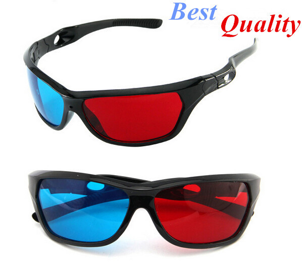Universal 3D Plastic glasses/Oculos/Red Blue Cyan 3D glass Anaglyph NVIDIA 3D vision/cinema(China (Mainland))