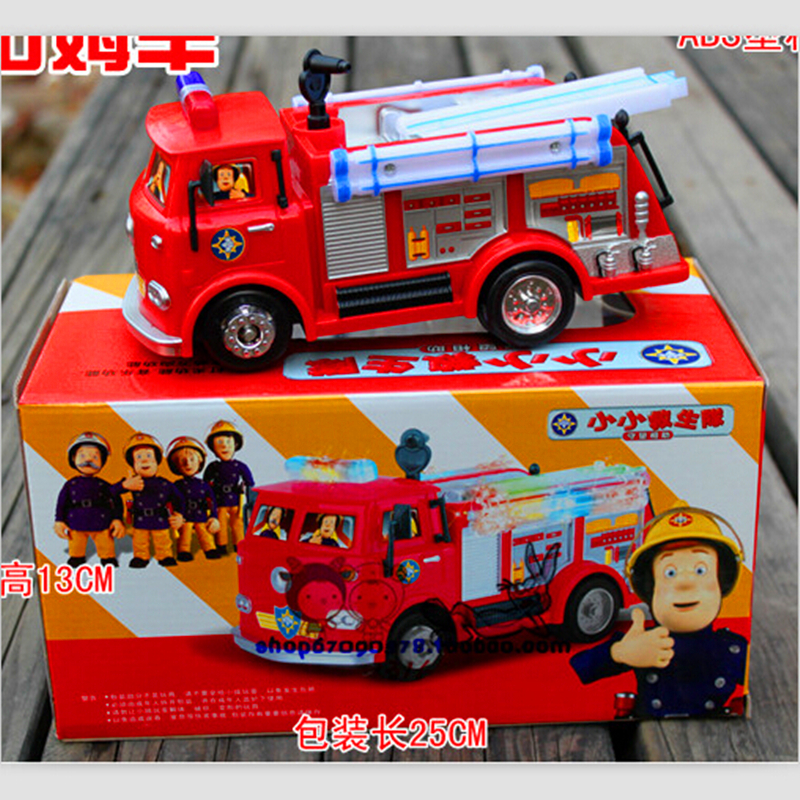 Free shipping FIREMAN SAM Toy Truck Fire Truck Car With Music+LED Boy Toy Educational Toy(China (Mainland))