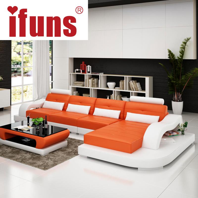 IFUNS european style corner sofa genuine leatherl shape chaise sectional sofa set living room furniture factory supply(China (Mainland))