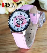 Buy Hot Sale Top O.T.SEA Brand Cute Hello Kitty Watch Children Women Fashion Crystal Dress Quartz Wristwatch Girl for $2.79 in AliExpress store