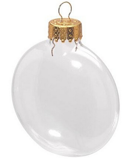 Free Shipping Wedding Bauble Ornaments Christmas Xmas Tree Clear Glass Balls Decoration 100mm Ball Disc Ornaments, 100/Pack(China (Mainland))