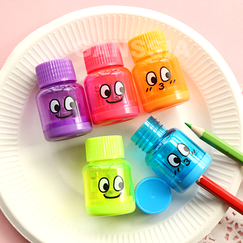 (5pcs/lot) Cute bottle design pencil sharpeners Funny stationery pencils sharpener Office material School kids supplies(ss-1396)(China (Mainland))